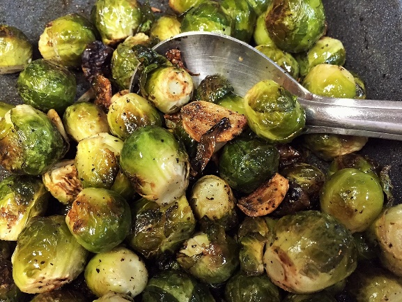 Friday Featured Recipe: Brussel Sprouts with Roasted Garlic
