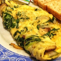 Therapeutic Thursday Recipe: Spinach and Mushroom Omelet!