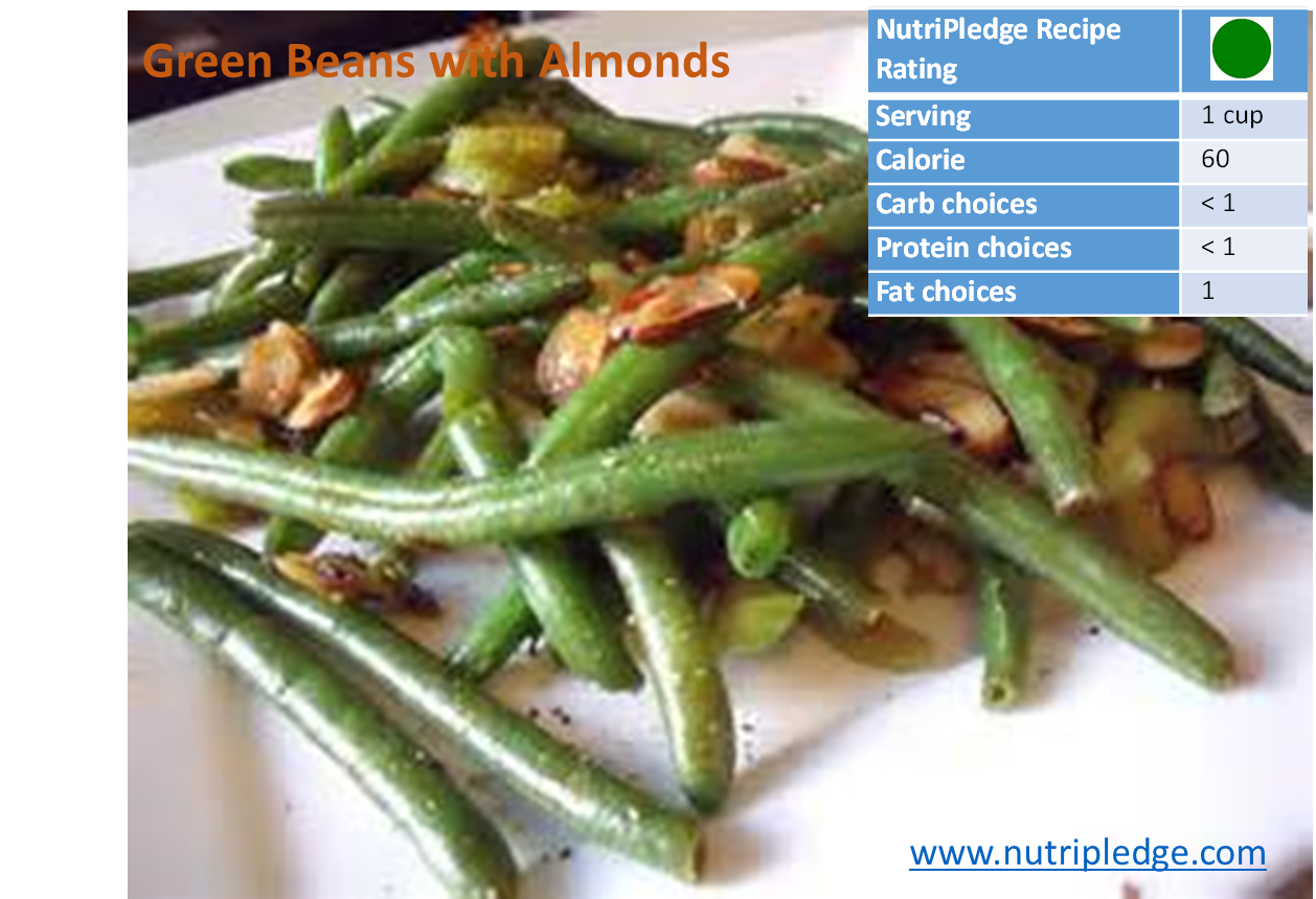 Therapeutic Thursday Recipe: Green Beans with Almonds!
