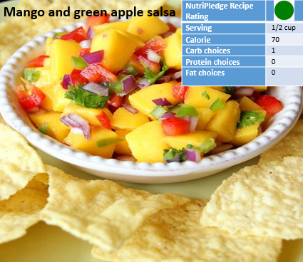 CHECK OUT THIS THURSDAY'S THERAPEUTIC RECIPE: MANGO & GREEN APPLE SALSA