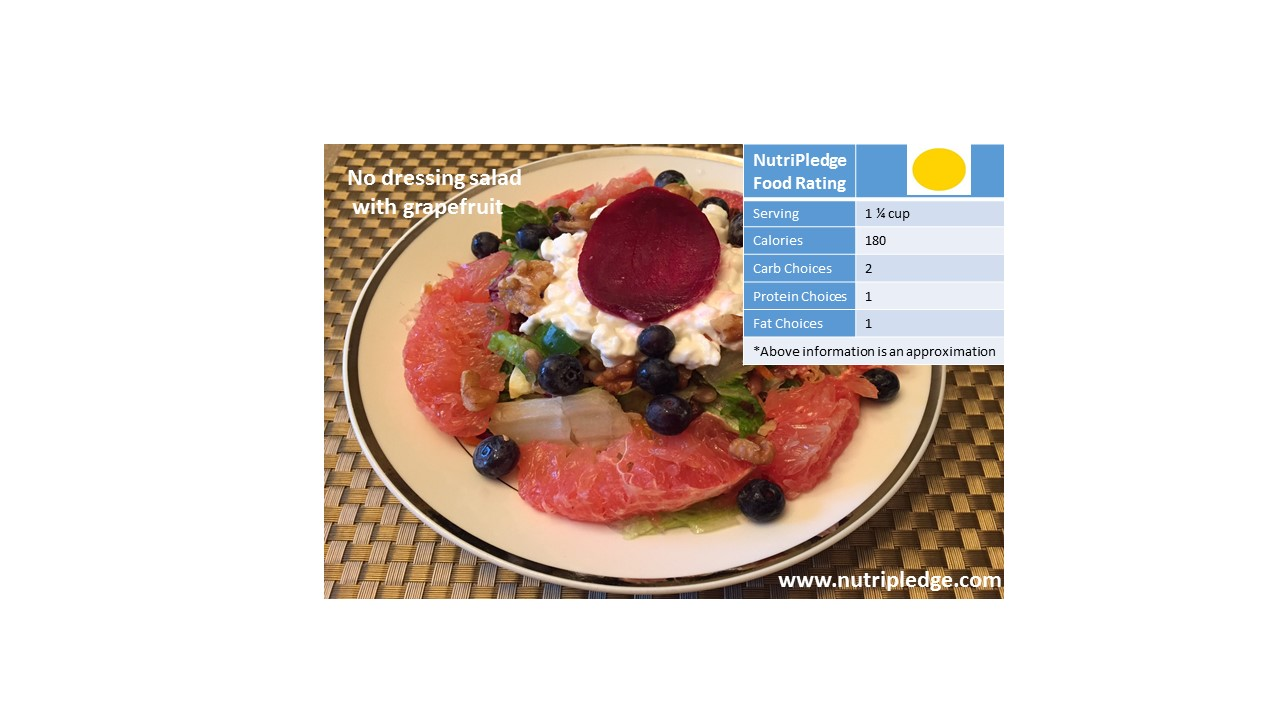 "Check out our Therapeutic Thursday Recipe! ""No dressing salad with grapefruit!"""
