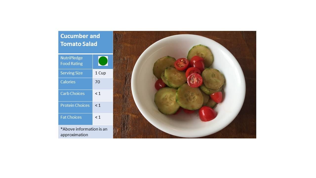 "check out our therapeutic Thursday Recipe! ""Cucumber and Tomato Salad!"""