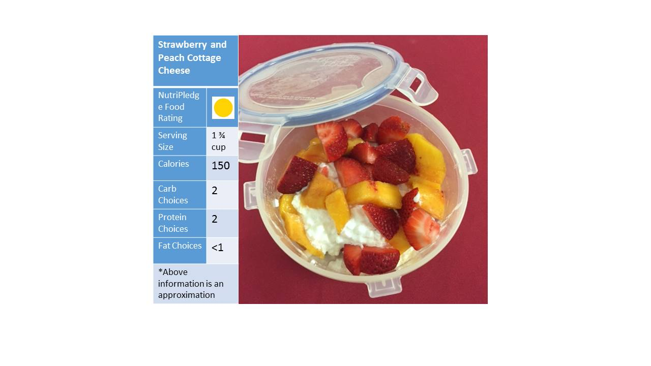 "Check out our Therapeutic Thursday recipe!-""Strawberry and Peach Cottage Cheese!"""