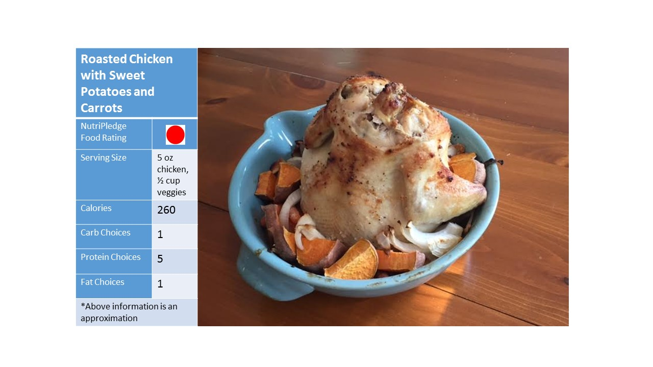 """Roasted Chicken with Sweet Potatoes and Carrots!"""