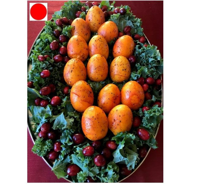 Holidays Eggs Over Kale and Cranberry bed: Red Dot Recipe | Watch Out Food