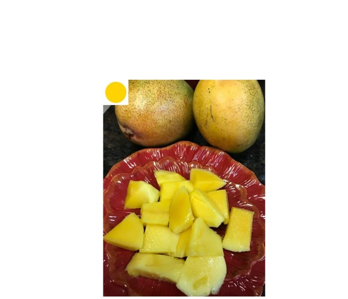 Fresh Mango Cubes: A Yellow Dot Recipe | A Healthy Balance | A Super Fruit