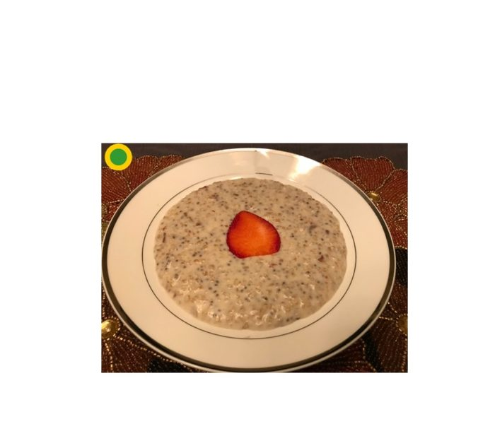 Oatmeal with Chia seeds and Dates: Yellow-Green Dot Recipe   Meal Replacer   Super Heart Healthy and Energy Power Breakfast