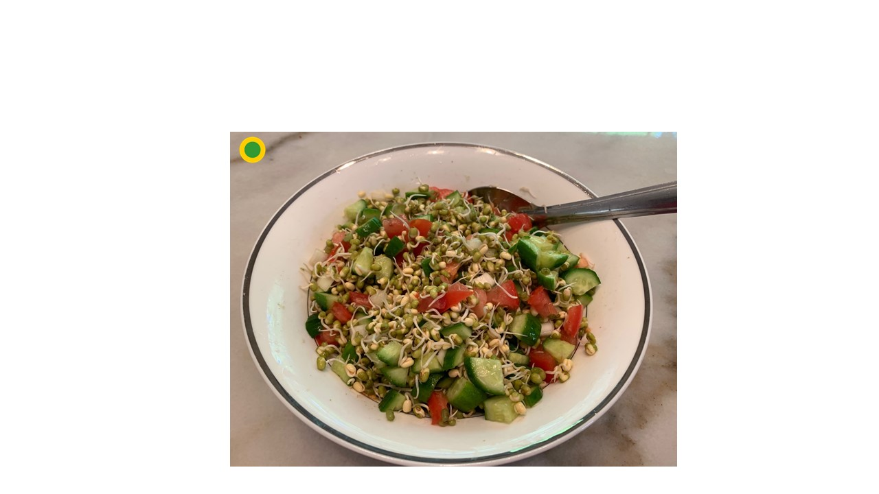 Super healthy sprouted mung beans salad meal