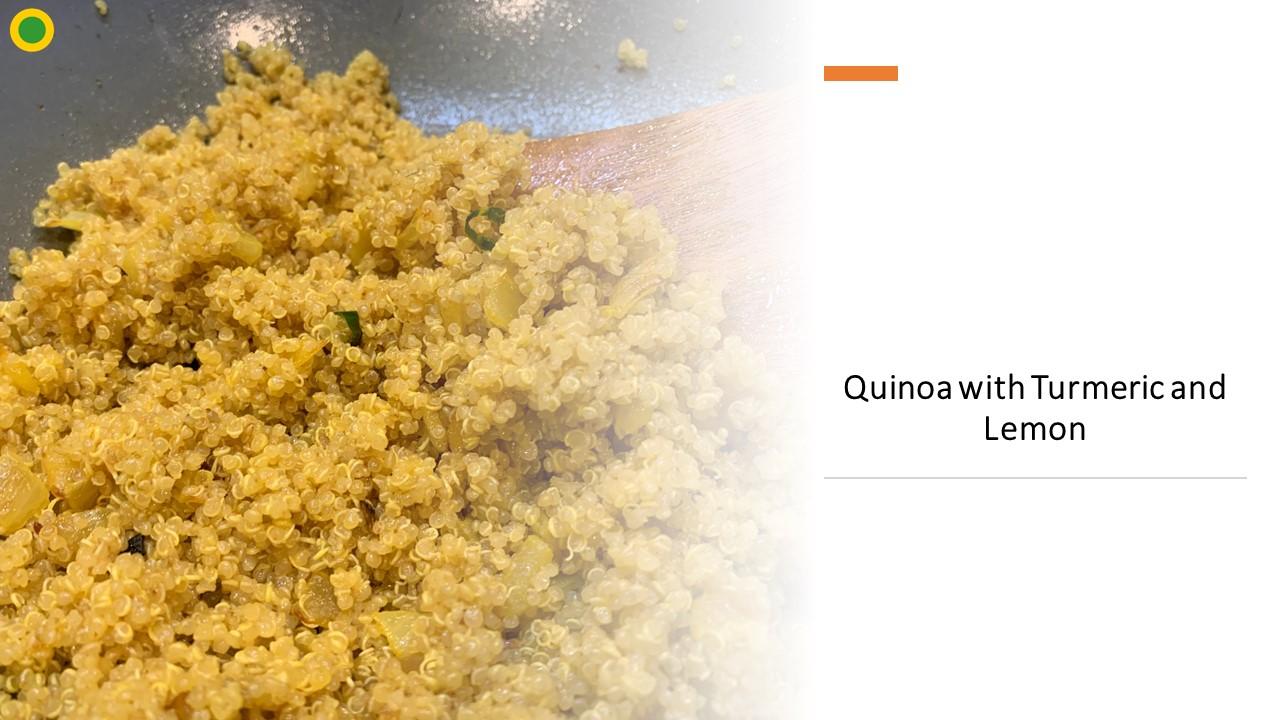 Quinoa with Turmeric and Lemon
