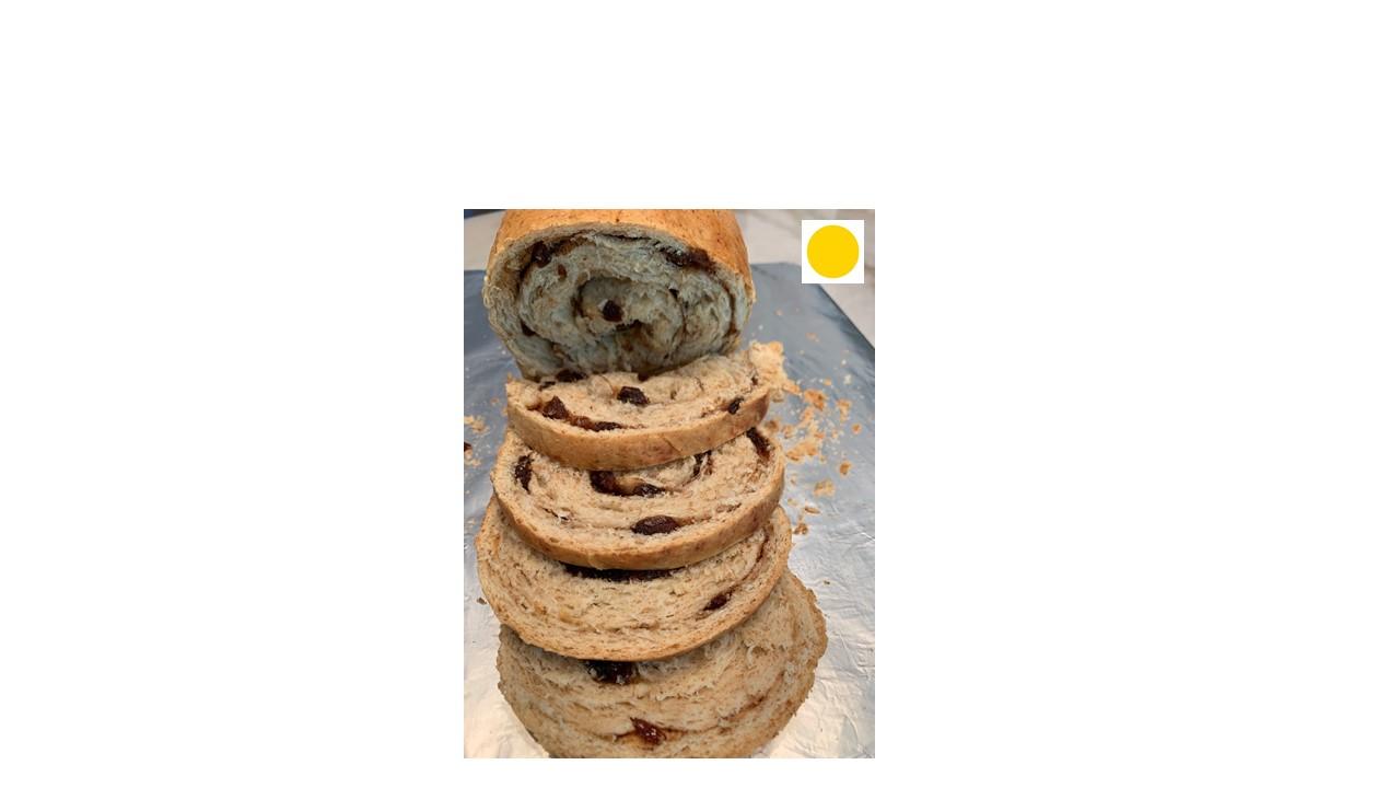 Whole Wheat (50%) Cinnamon Raisin Sourdough Bread