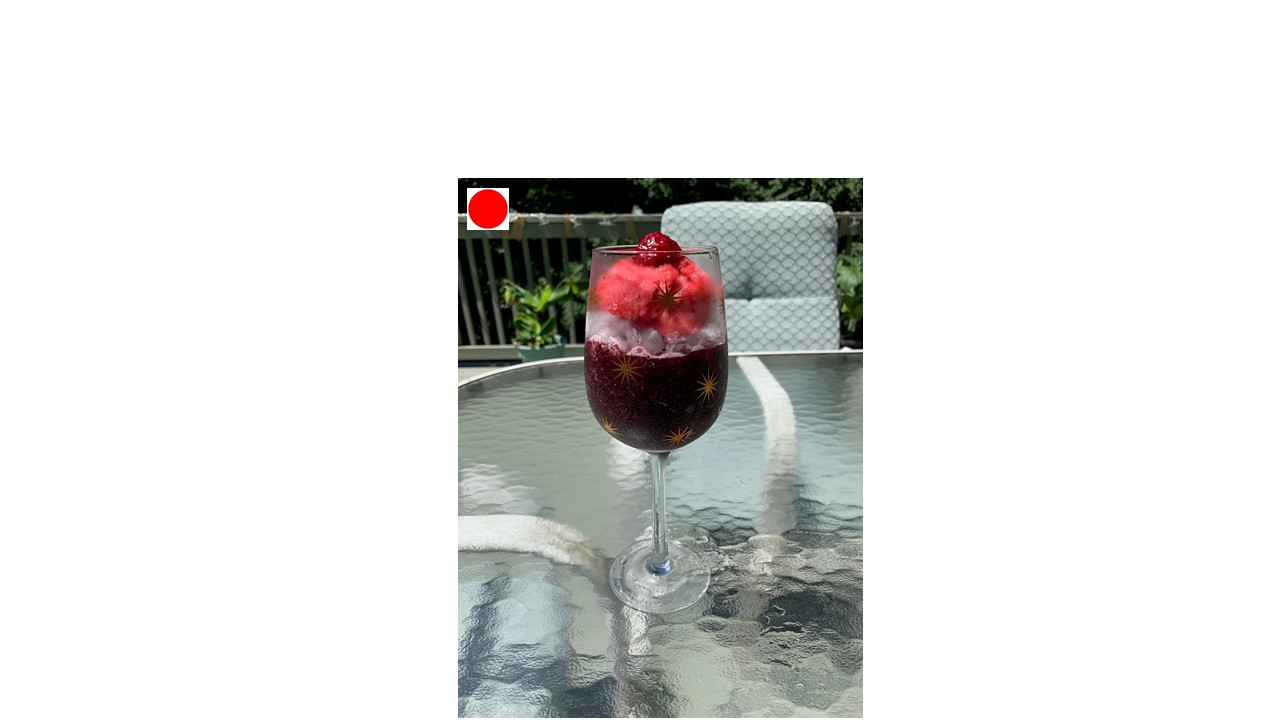 Frozen Healthy Cocktail Drink