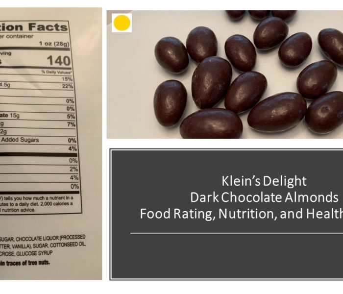 Klein's Delights Dark Chocolate Almonds: Friday  Food Talk