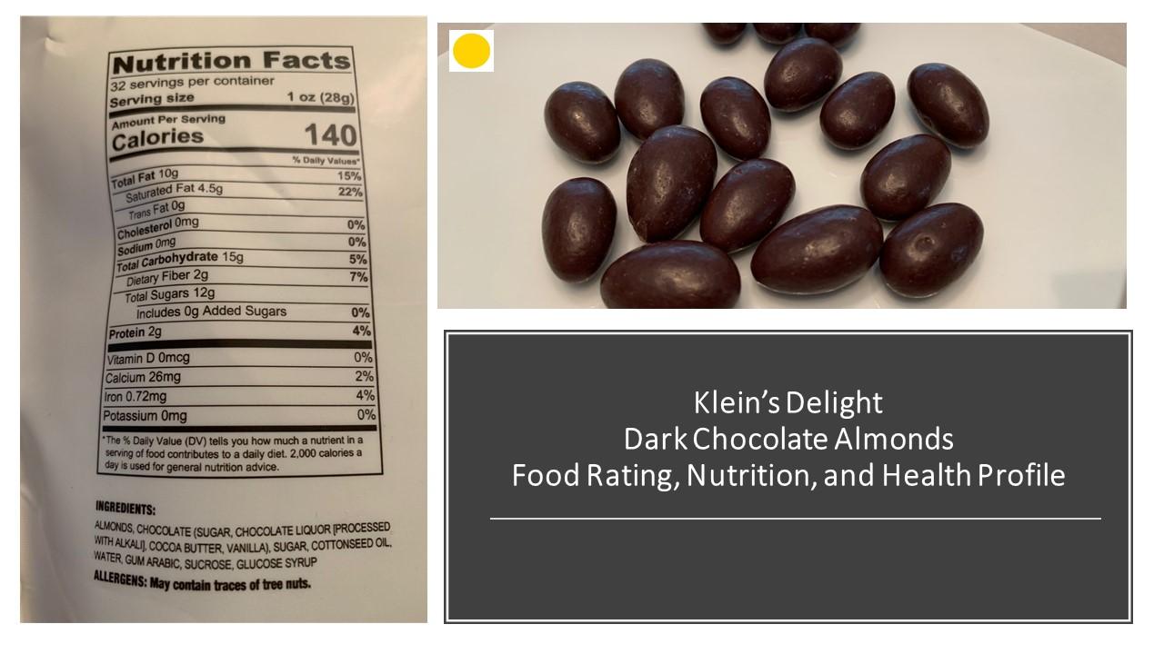Klein's Delights Dark Chocolate Almonds: Friday  Food Talk