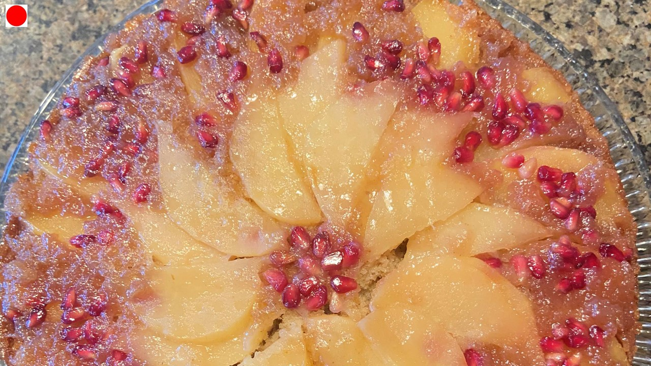 Pear and Apple Upside Down Cake