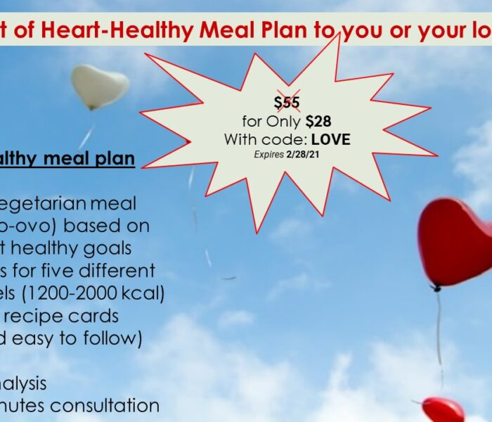 Seven-days heart-healthy meal plan based on 7 heart-healthy principles!