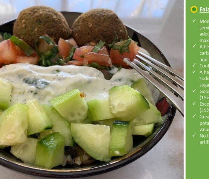 Falafel Tabouli (Tabbouleh) Salad Bowl