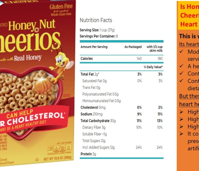 Is Honey Nut Cheerios Cereal Really Heart-Healthy?