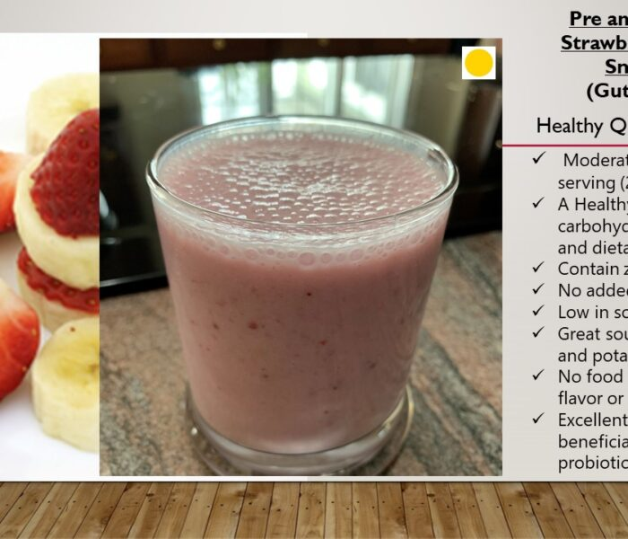 Pre and Probiotic  Strawberry Banana Smoothie (gut-healthy)
