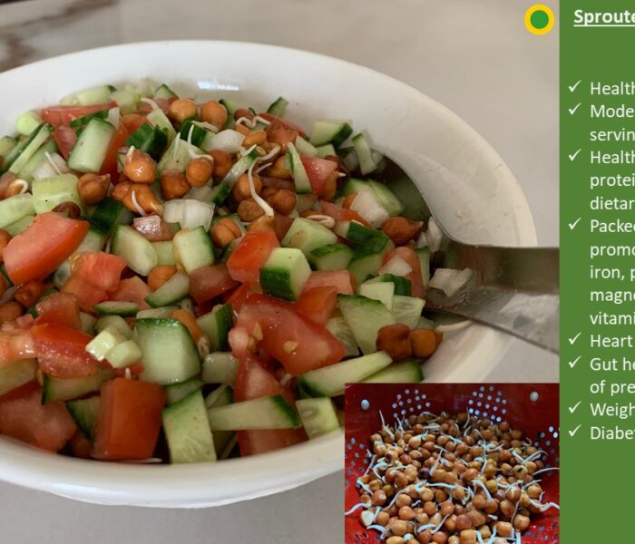 Sprouted Black Chickpeas Salad