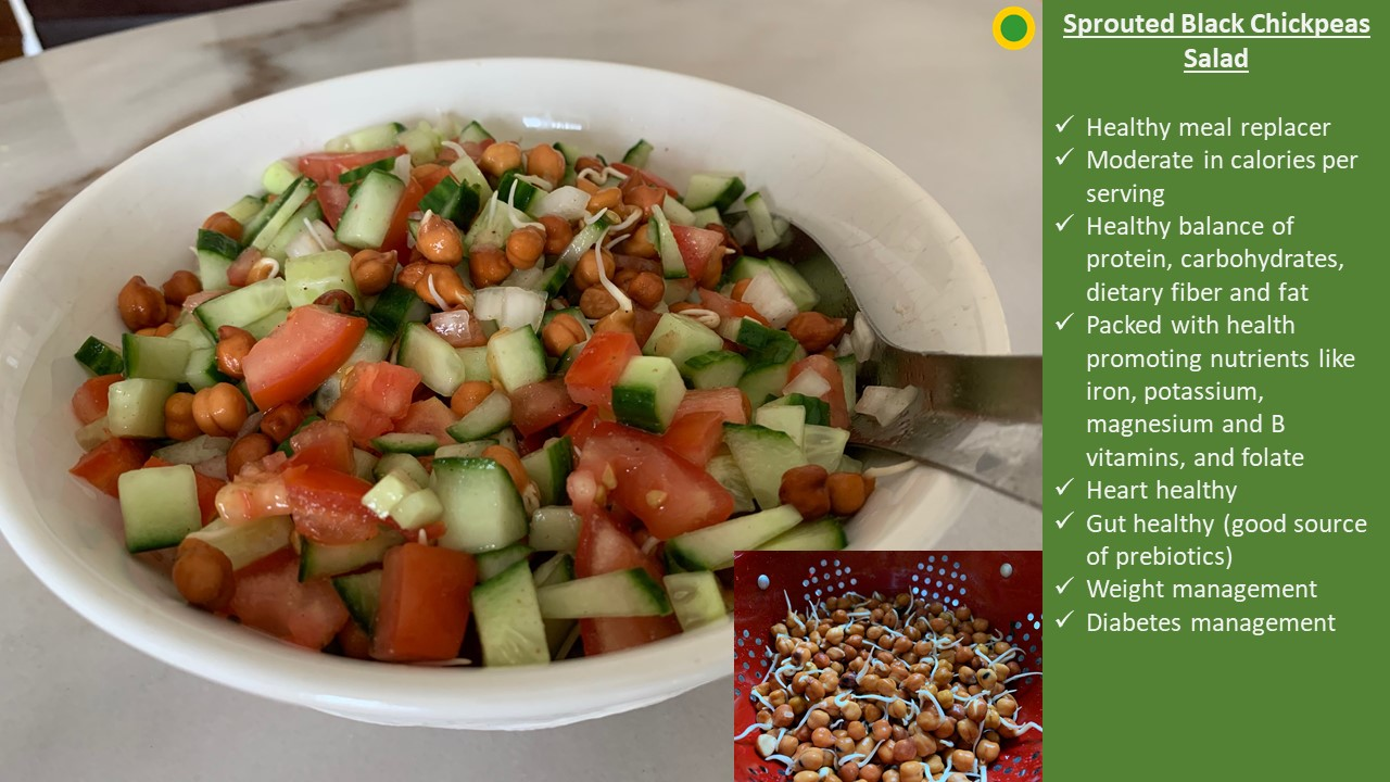 Sprouted Chickpeas Salad