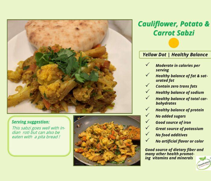 Cauliflower, Potato, & Carrot Sabzi with Turmeric Powder