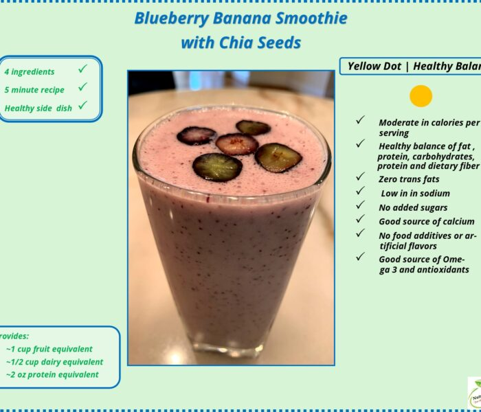 Blueberry-Banana Smoothie with Chia Seeds