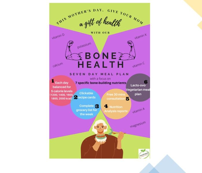 Seven-day Balanced Meal Plan to Improve Your Bone Health with Seven Bone-Strengthening Principles
